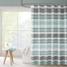 Aqua And Grey Curtains Blue Shower Curtains For Less Overstock Vibrant Fabric