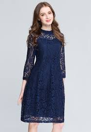 dress blue transparent shoulder blue lace dress plus size clothes online