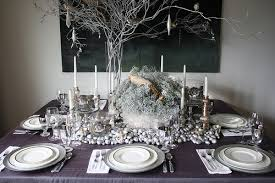 awesome table decorating ideas with silver table