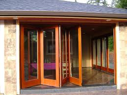 rectable design exterior house with glass wall curtains and wooden