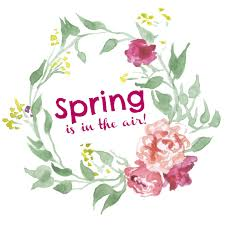 spring is in the air free printable glued to my crafts
