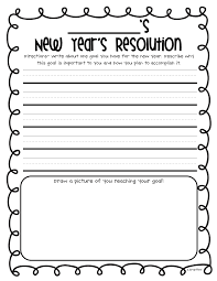 first grade writing paper printable happy new year freebies free printable free printable new year s resolution has a place for kids to write their resolutions and