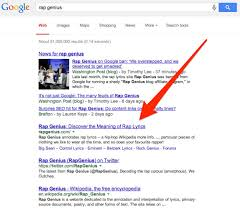 rap genius back in google after 10 day penalty ranks for its name