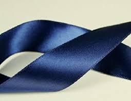 satin ribbon navy blue 100 polyester 5 8
