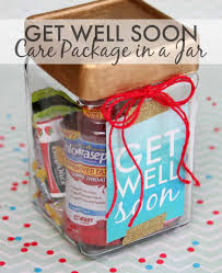 get better soon care package get well soon gift in a jar happy go lucky