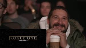 Shia Labeouf Meme - shia labeouf reacts to rogue one a star wars story trailer youtube
