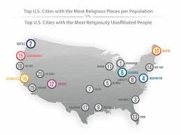 cities with most churches business insider