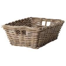 Wicker Laundry Basket With Lid Ikea Byholma Basket 9 X11 X6