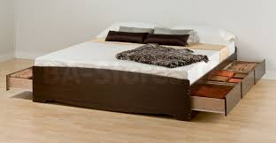 King Platform Storage Bed Prepac King Platform Storage Bed With 6 Drawers In Espresso