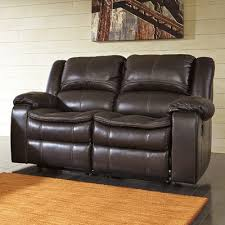 Contemporary Reclining Sofa With Topstitch by Signature Design By Ashley Long Knight Reclining Loveseat