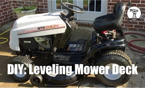 diy how to level the deck on a mtd lawn mower bolens toro