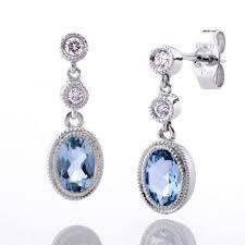 aquamarine drop earrings aquamarine drop earrings holdsworth bros