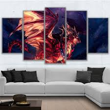 Canvas Painting For Home Decoration by Online Get Cheap Red Dragon Art Aliexpress Com Alibaba Group