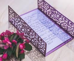 digital template for laser cut wedding invitation printable 5x7