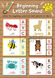 clip cards matching game of beginning letter sound y z for