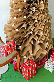 postal wrapping paper how to make a size brown paper christmas tree crafts a la mode