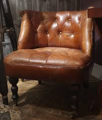 Vintage Brown Leather Chair Vintage Brown Leather Tub Chair Cambrewood