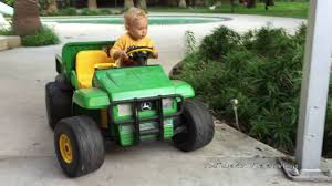gator power wheels 2 year old driving in high speed cadillac escalade and john