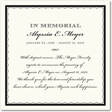 Funeral Service Announcement Wording 10 Best Images Of Memorial Announcements Samples Free Memorial