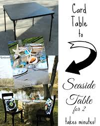 how big is a card table seaside tablescape giveaway redhead can decorate