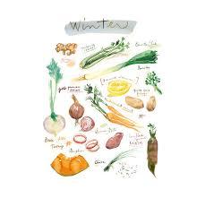 cuisine hiver vegetable print kitchen winter vegetable poster seasonal