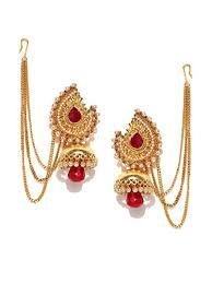 buy jhumka earrings online buy panash gold plated antique jhumka earrings online at low