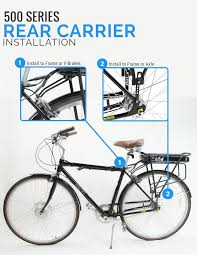 500 series electric bike kit rear carrier e bike battery assembly