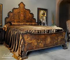 isabella old world king bed designed to appear as bedroom