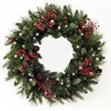 cordless pre lit cone berry garland home