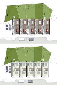 classy design 3 terraced house plans homeca