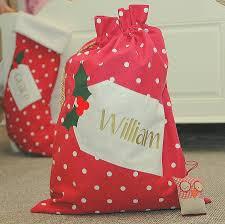 santa sacks personalised christmas santa sack by the alphabet gift shop