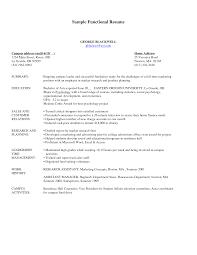 Functional Resume Templates Resume Functional Resume Templates