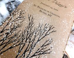 winter wedding programs unique wedding invitations and paper goods by everafterpapery
