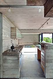 fascinating grey color concrete kitchen floor featuring large