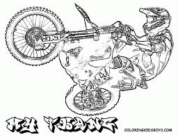 bmx coloring pages printable coloring pages dirt bikes