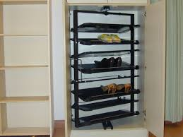 rotating shoe rack closet with rotating shoe rack storage design