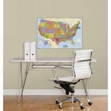 Giant Map Of The United States by Roommates 27 In Usa Map Dry Erase Peel And Stick Giant Wall