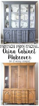 china cabinets hutches provincial china cabinet makeover