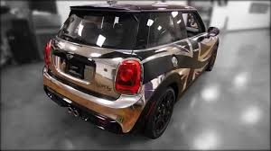 gold glitter car mini cooper car wrap with chrome and union jack youtube