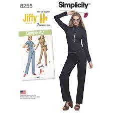 jumpsuit stitching pattern simplicity pattern 8255 misses vintage jiffy jumpsuit