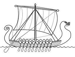 drakkar viking ship coloring free printable coloring pages