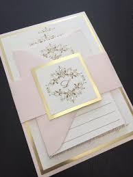 wedding invitations gold wedding invitation blush and gold