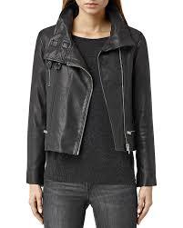 leather biker jacket allsaints bales leather biker jacket bloomingdale u0027s