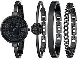 anne klein bracelet set images Anne klein women 39 s ak 1471bkst black bangle watch and bracelet set jpg