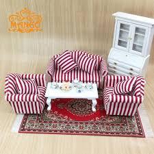 plaid living room furniture 1 12 dollhouse miniature living room furniture pink plaid sofa set