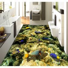 3d Bathroom Floors by Aliexpress Com Buy 3d Pvc Flooring Custom Wall Sticker The