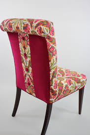 pink dining room chairs reupholster a dining room chair kim u0027s upholstery