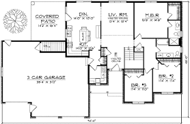 ranch style floor plans traditional ranch style home plan 89130ah architectural