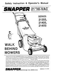 snapper lawn mower 21355 user guide manualsonline com