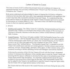 4 letter of intent to lease templates word excel templates